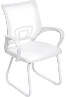 Cadeira De Escritório Tok- Branca- 87X61,5X49Cm-Or Design