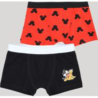 ebeb710de CEA. Kit De 2 Cuecas Boxer Infantis Mickey Multicor