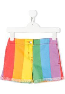 Stella Mccartney Kids Bermuda Jeans Rainbow - Amarelo
