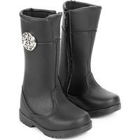 602a66c36adbe3 Bota Para Menina Cano Medio Marrom infantil | Shoes4you