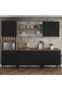 Cozinha Compacta Itamaxi I 12 Pt 4 Gv Preta E Castanho