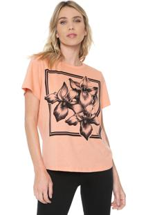 Camiseta Forum Estampada Coral