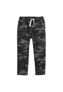 Calça Jeans Infantil Gap Camuflada Preto Menino
