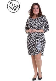 Vestido Pianeta Cachecour Estampado Com Detalhe Na Gola P&B
