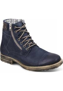 Bota Dress Boot Masculina Sandro Moscoloni Wolves Azul Outlet