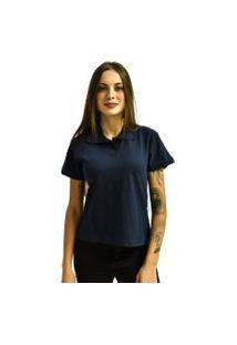 Camiseta Rich Young Pólo Básica Lisa Manga Curta Azul Marinho
