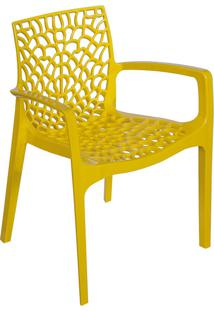 Cadeira Gruvyer Com Braço S6626 – Or Design. - Amarelo