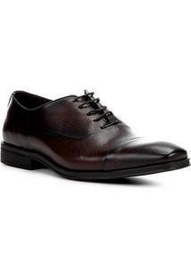 Sapato Social Couro Shoestock Tradicional Masculino - Masculino-Café