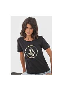 Camiseta Volcom Forget Yoself Preta