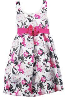 Vestido Infantil Pipoca Doce Floral Pink