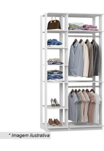 Guarda Roupa Clothes- Branco- 220X111X44,5Cmbentec