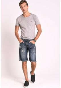 Bermuda Jeans Cafezal Jeans Aston Azul