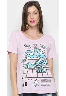 Camiseta Cantão Classic Ar Feminina - Feminino-Lilás