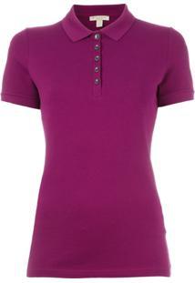 Burberry Camisa Polo Lisa - Pink   Purple 528104a09c94e