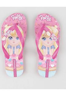 Chinelo Infantil Ipanema Polly Rosa