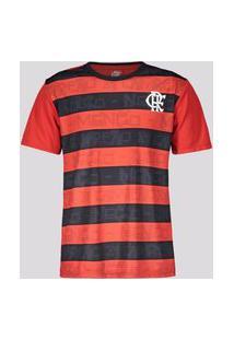 Camisa Flamengo Shout Infantil Vermelha E Preta