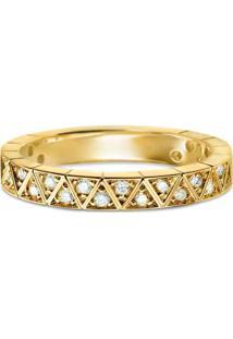 Aliança De Casamento Ouro Amarelo Com Diamantes