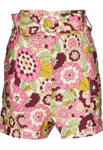 Dodo Bar Or Short Com Estampa Floral - Rosa