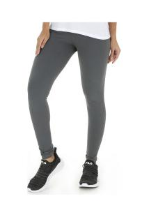 Calça Legging Oxer Comfort Rosê - Feminina - Cinza Escuro