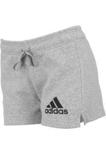 3da492609 Shorts De Moletom Adidas Ess Solid - Feminino - Cinza Claro
