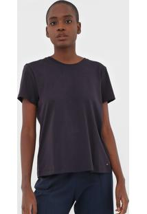 Camiseta Tommy Hilfiger W S/S Vnk New Fave Core Azul-Marinho - Azul Marinho - Feminino - Algodã£O - Dafiti