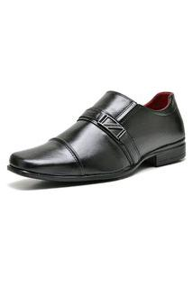 Sapato Social Com E Sem Verniz Com Relógio Dubuy 820Mr Preto