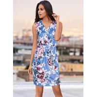 6bdfe4cdf Posthaus. Vestido Floral Estampado Azul
