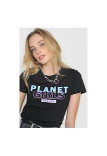 Camiseta Planet Girls Logo Preta