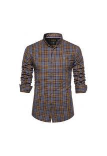 Camisa Xadrez Cleveland Masculina - Amarela