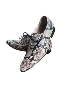 Sapato Masculino Italiano Em Couro Oxford Ref: 922 Bege
