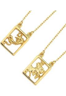 Escapulário Le Diamond São Jorge Dourado