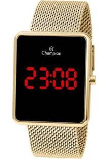 Relógio Champion Digital Ch40080V Feminino - Feminino-Dourado