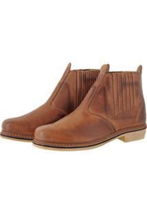 Botina Pessoni Boots & Shoes Country Conforto Em Couro Látego Pessoni Boots Marrom - Kanui