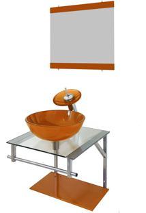 Gabinete De Vidro Para Banheiro Croácia Dourado Real Ekasa
