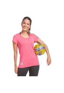 Camiseta Feminina Crep Rosa Camiseta Feminina Crep Rosa Gg