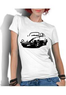 Camiseta Criativa Urbana Fusca Carro Antigo Clássico - Feminino