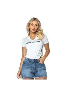 T-Shirt Daniela Cristina Gola V 04 602Dc10287 Branco