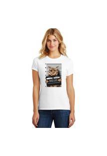 Camiseta Feminina T-Shirt Pets Bad Cat