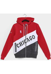 Jaqueta Infantil Nba Chicago Bulls Moletom Masculina - Masculino-Vermelho