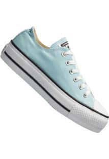 Tênis Converse All Star Chuck Taylor Plataforma - Feminino - Azul Claro/Preto