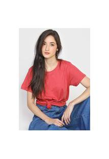 Camiseta Hering Lisa Rosa