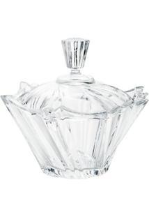 Bomboniere De Cristal Com Tampa Ikaro 18Cm - Unissex