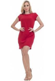 Vestido Clara Arruda Básico Feminino - Feminino-Vermelho
