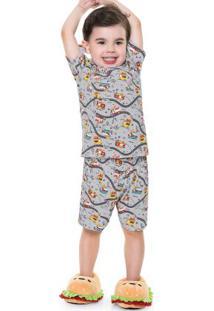 Pijama Bombeiros Cinza
