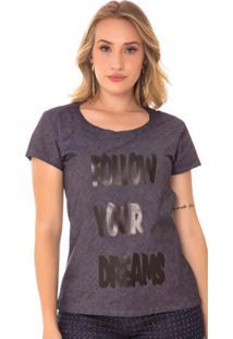 T-Shirt Jeans Express Ângela Amaciada Azul