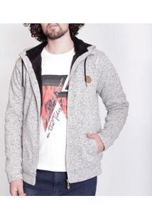 Casaco Knit Forro Lã De Ovelha Mormaii Masculino - Masculino-Bege