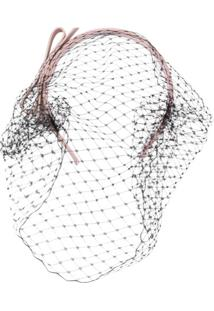 Redvalentino Headband Com Tela - Rosa