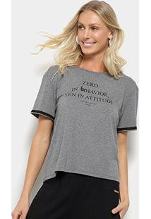 Camiseta Sommer Zero In Behavior Feminina - Feminino-Cinza Claro