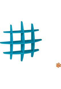 Prateleira Taylor Hashtag Média Mdf Azul 598-0050 - 90X90X14 Cm