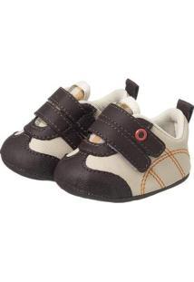 Sapatinho Bebê Plis Calçados Basketball Masculino - Masculino-Bege